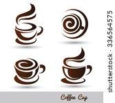 coffee cup set vector... | Shutterstock .eps vector #336564575