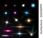 realistic vector glowing lens... | Shutterstock .eps vector #336568994