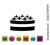 cake with cream icon | Shutterstock .eps vector #336570959