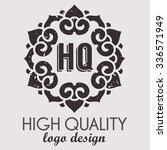 ethnic logotype decorative... | Shutterstock .eps vector #336571949