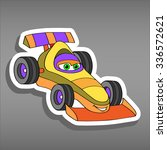 cartoon sport car sticker for... | Shutterstock .eps vector #336572621