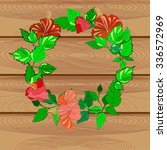 floral wreath | Shutterstock .eps vector #336572969