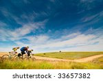 group of cyclists relax biking... | Shutterstock . vector #33657382