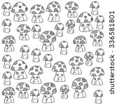 seamless pattern with cute... | Shutterstock .eps vector #336581801