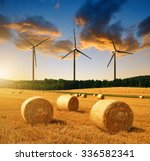 Straw Bales With Wind Turbines...