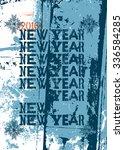 typographic retro happy new... | Shutterstock .eps vector #336584285