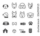 dog icon set | Shutterstock .eps vector #336590915