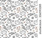 merry christmas. christmas... | Shutterstock .eps vector #336593285
