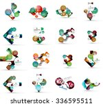 set of abstract geometric paper ... | Shutterstock .eps vector #336595511