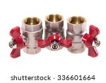 three red valves water | Shutterstock . vector #336601664