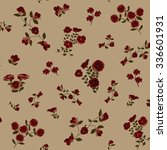 trendy seamless floral ditsy... | Shutterstock .eps vector #336601931
