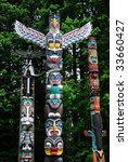 Lively Historic Totem Poles By...
