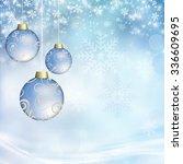 three christmas ball on a... | Shutterstock . vector #336609695