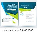 abstract vector modern flyers... | Shutterstock .eps vector #336609965