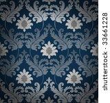 Retro blue renaissance background - stock photo