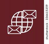 internet e mai  envelope lette  ... | Shutterstock .eps vector #336615359
