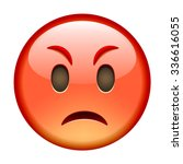 Angry Emoticon. Isolated Vecto...