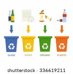separation recycling bins.... | Shutterstock .eps vector #336619211