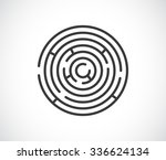 maze labyrinth abstract icon  ... | Shutterstock .eps vector #336624134