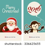 happy new year 2016 greeting... | Shutterstock .eps vector #336625655