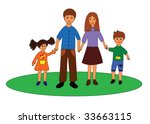 smiling happy family. | Shutterstock .eps vector #33663115