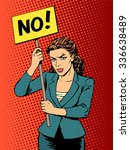 businesswoman policy protest... | Shutterstock . vector #336638489