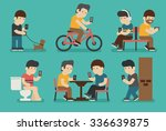 internet and smartphone... | Shutterstock .eps vector #336639875