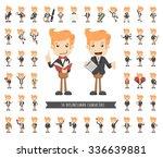 set of businessman character  ... | Shutterstock .eps vector #336639881
