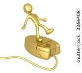 person on mouse | Shutterstock . vector #3366408