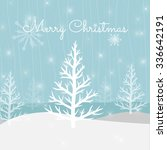 vector christmas greeting card. ... | Shutterstock .eps vector #336642191