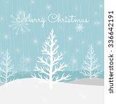 vector christmas greeting card. ... | Shutterstock .eps vector #336642191