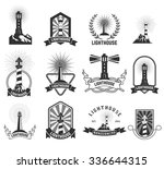 Set Of Lighthouses Labels And...