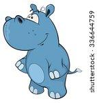 a little hippo. cartoon | Shutterstock . vector #336644759