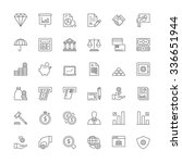 thin line icons set. flat... | Shutterstock .eps vector #336651944