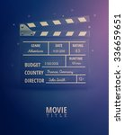 clapping board  movie... | Shutterstock .eps vector #336659651