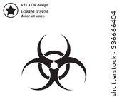 biohazard symbol vector sign... | Shutterstock .eps vector #336666404