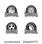set of sports logos soccer ... | Shutterstock .eps vector #336669575