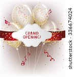 grand opening banners with red... | Shutterstock .eps vector #336674024