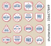discount sale  free labels ... | Shutterstock .eps vector #336677849