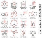 vector set of 16 icons related... | Shutterstock .eps vector #336678287
