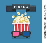 cinema attributes  film strip ... | Shutterstock .eps vector #336678491