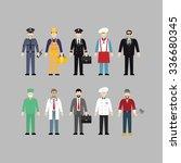 vector modern illustration. man ... | Shutterstock .eps vector #336680345
