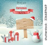 winter christmas background... | Shutterstock .eps vector #336689669