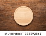 Vintage Empty Wooden Plate On...