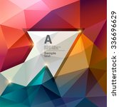 abstract polygon background... | Shutterstock .eps vector #336696629