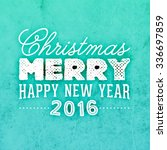 christmas typographic label for ... | Shutterstock .eps vector #336697859