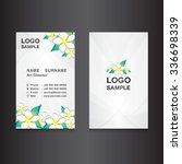 white business card design card ... | Shutterstock .eps vector #336698339