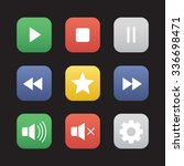 multimedia flat design icons...