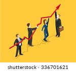 flat 3d isometric profit... | Shutterstock .eps vector #336701621