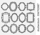 set of round and square vintage ... | Shutterstock .eps vector #336702887